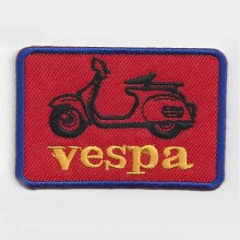 Patch brodé Vespa rouge