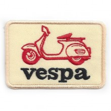 Patch brodé Vespa beige