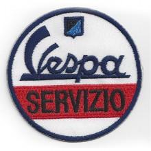 Patch thermocollant brodé Vespa Servizio - 7 cm