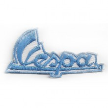 Patch brodé Vespa bleu horizontal