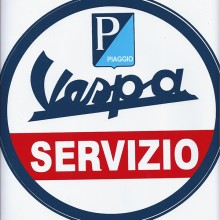 Sticker Vespa Servizio