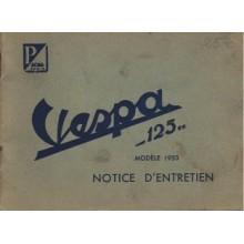 Notice d'entretien Acma 1953