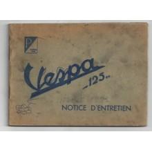 Notice d'entretien Acma 1951 à tringle