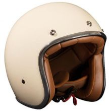 Casque jet beige brillant - Nox