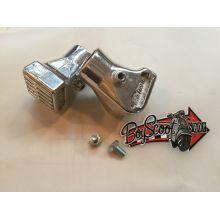 Embout / tampon de béquille centrale en aluminium (paire) - Vespa PK, PX 80-200