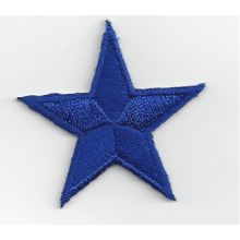 Patch brodé thermocollant étoile bleu marine - 4 cm