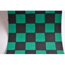 Grip de skate damiers vert & noir - dimensions: 80 x 22 cm