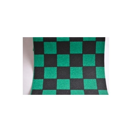 Grip de skate damiers vert & noir - dimensions: 80 x 22 cms