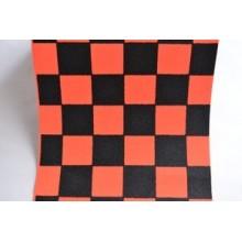 Grip de skate à damiers orange - dimension: 80 x 22 cm