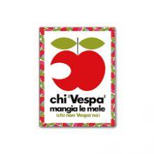 """Magnet Vespa 8x6 cms Pomme """"Chi Vespa"""" - Forme"""