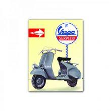Magnet Vespa 8x6 cms Vespa Servizio - Forme