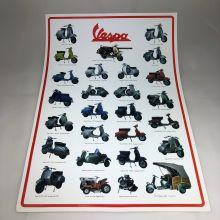 Affiche Vespa 35 x 45 cm