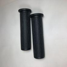 Poignées (paire) caoutchouc noires avec logo Piaggio - Vespa V5A, 50 Special, Primavera, ET3