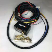 Faisceau électrique universel - Vespa small frame, V5A, 50 Special, 50-125 pour passage en électronique