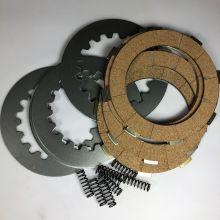 Kit 4 disques d'embrayage garnis + 4 disques lisses + 8 ressorts Ferodo - Vespa PX à disque et Cosa