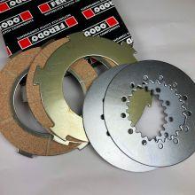 Kit embrayage 3 disques garnis + 2 disques lisses, Ferodo - Vespa tous modèles sauf PX à disque, PX 200 et Acma