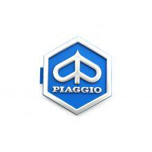 """Monogramme / insigne de descente de klaxon """"Piaggio"""" 32 mm - Vespa Piaggio hexagon, PX EFL (1984-2000), Vespa T5 125cc, Vespa PK"""