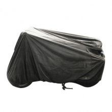 Housse de protection scooter équipé de pare-brise et top-case noir (188x101x14cm)